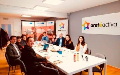 Visita del área de Acción Exterior de Gobierno de Navarra a ARETÉ ACTIVA