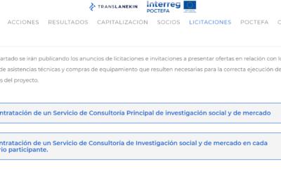 Publicación de dos licitaciones para realizar sendas investigaciones sociales en el marco del proyecto TRANSLANEKIN